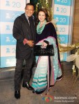 Mithun Chakraborty And Poonam Dhillon at the Zee TV 20 Yrs Celebration Party