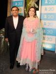 Mukesh Ambani And Nita Ambani at the Zee TV 20 Yrs Celebration Party