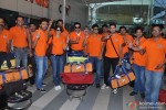 Ritesh Deshmukh and Genelia D'Souza Deshmukh with CCL Team Veer Marathi returns from Ranchi Pic 3