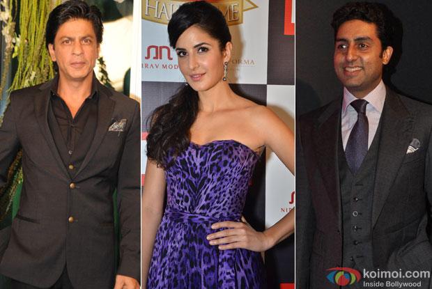 Shah Rukh Khan, Katrina Kaif and Abhishek Bachchan