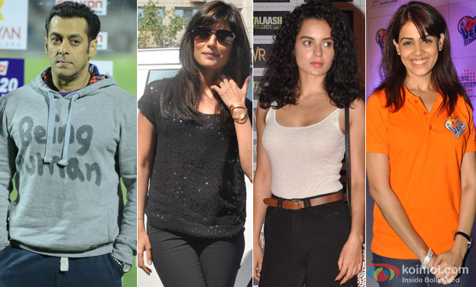 Salman Khan, Chitrangada Singh, Kangana Ranaut and Genelia D'Souza
