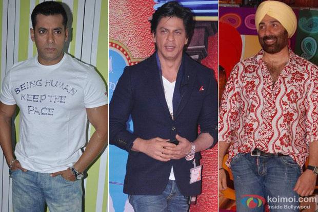Salman Khan, Shah Rukh Khan and Sunny Deol