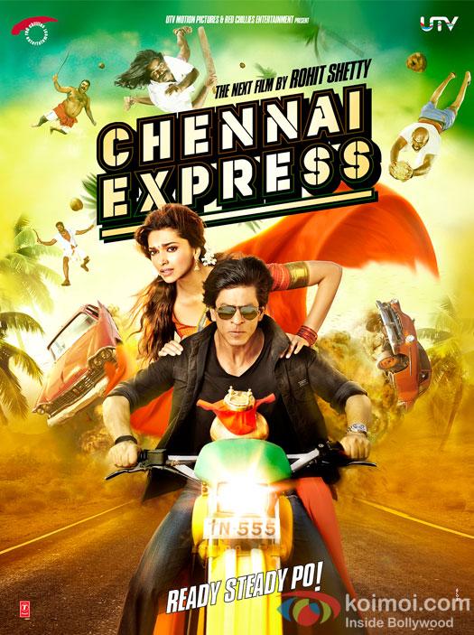 Shah Rukh Khan & Deepika Padukone in Chennai Express Poster