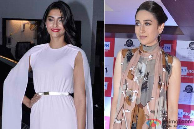Sonam Kapoor and Karisma Kapoor