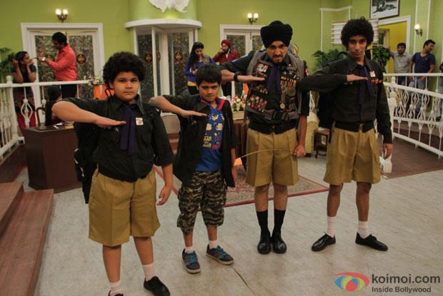 Saloni as Rajesh with Kabir (Namit Shah) and Maan Singh (Daman Deep) in The Suite Life of Karan and Kabir Season 2 - 1