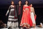 Parineeti Chopra and Urmila Matondkar with Manish Malhotra Sizzle The Ramp in London Pic 1