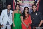 Tusshar Kapoor, Neha Dhupia, Mahie Gill and Jimmy Shergill on the sets of Nautanki The Comedy Theatre Show