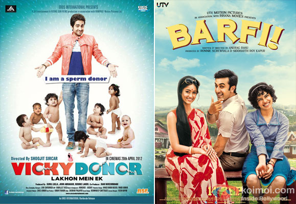 Vicky Donor and Barfi! Movie Poster