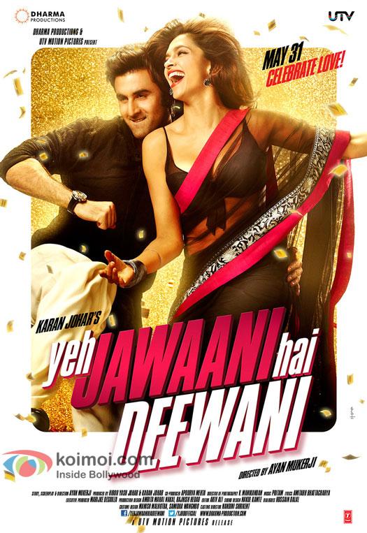Ranbir Kapoor and Deepika Padukone in Yeh Jawaani Hai Deewani Movie First Look Poster