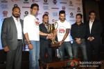 Abhishek Bachchan, Virat Kohli unveil the trophy and jersey for the charity football match Pic 2