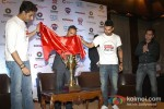 Abhishek Bachchan, Virat Kohli unveil the trophy and jersey for the charity football match Pic 1