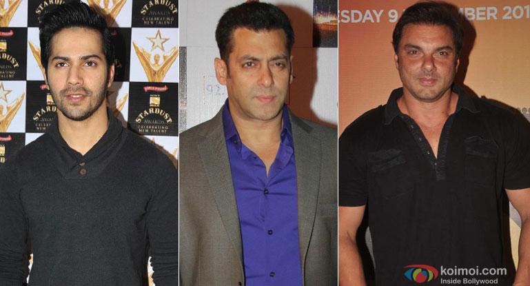 Varun Dhawan, Salman Khan and Sohail Khan