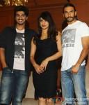Arjun Kapoor, Priyanka Chopra and Ranveer Singh at the press meet of film 'Gunday' in Kolkata