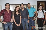 Behzaad Khan, Bipasha Basu, Shaleen Malhotra, Ketan Karande, Sheetal Shah promotes 'Aatma' on the sets of Tv show Arjun Pic 1