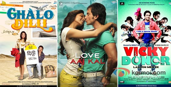 Challo Dilli, Love Aaj Kal And Vicky Donor Movie Poster