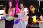 Chandi Perera And Manisha Kelkar play Holi at Kamal Air Compound