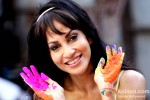 Chandi Perera play Holi at Kamal Air Compound Pic 1