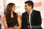 Deepika Padukone And Karan Johar At Yeh Jawaani Hai Deewani Trailer Launch