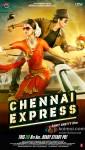 Deepika Padukone And Shah Rukh Khan In Chennai Express Movie Poster 1