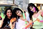 Ekta Jain, Manisha Kelkar And Chandi Perera play Holi at Kamal Air Compound Pic 1