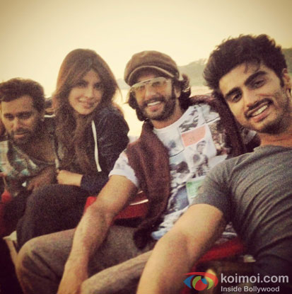 On The Sets of Gunday Movie