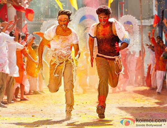Ranveer Singh and Arjun Kapoor in a still from Gunday Movie