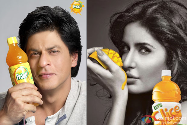 Shah Rukh Khan in Frooti Ad and Katrina Kaif in Slice Ad