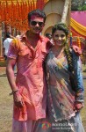 Jay Soni And Shamin Mannan At Colors Holi Party