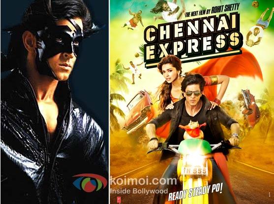 Krrish 3 and Chennai Express Movie Poster