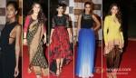 Lisa Haydon, Vidya Balan, Sonam Kapoor, Neha Dhupia, Aditi Rao Hydari at 'Loreal Femina Women Awards 2013'