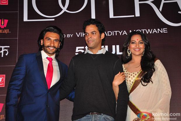 Ranveer Singh, Vikramaditya Motwane and Sonakshi Sinha