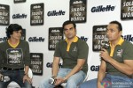 Mandira Bedi, Arbaaz Khan and Rahul Bose at the 'Gillette Soldier for Women' Press Conference Pic 2