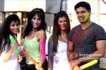 Manisha Kelkar, Chandi Perera, Payal Rohatgi Sangram Singh play Holi at Kamal Air Compound