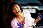 Manisha Kelkar play Holi at Kamal Air Compound Pic 2
