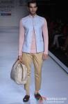 Model walks the ramp at 'Lakme Fashion Week 2013' Pic 2