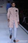 Model walks the ramp at 'Lakme Fashion Week 2013' Pic 1