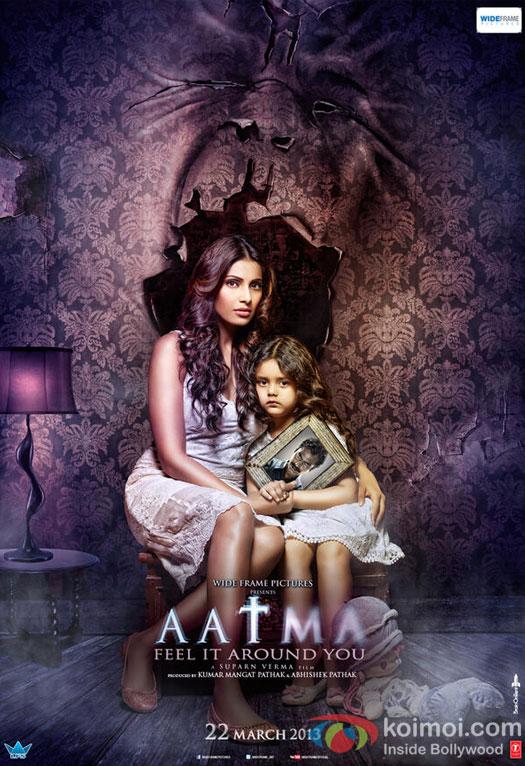 Bipasha Basu and Baby Doyel Dhawan in a Poster from Aatma Movie