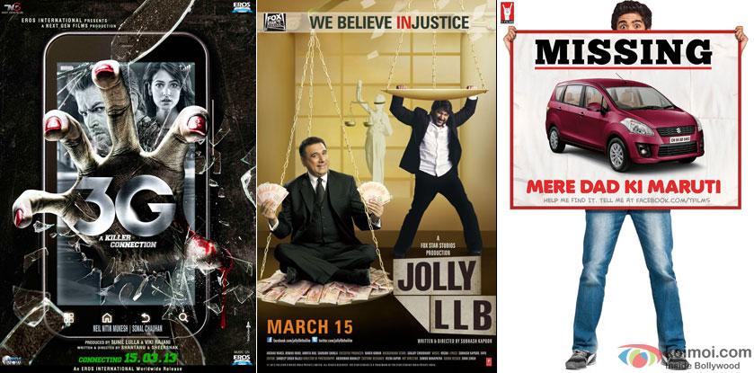 3G, Jolly LLB and Mere Dad Ki Maruti Movie Poster