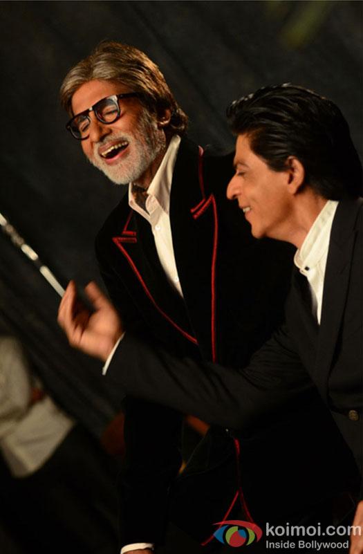SRK, Big B during Filmfare's Photoshoot