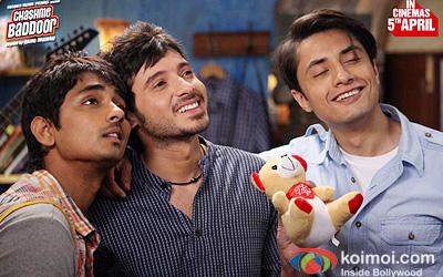 Siddharth, Divyendu Sharma, Ali Zafar In Chashme Baddoor Movie Stills