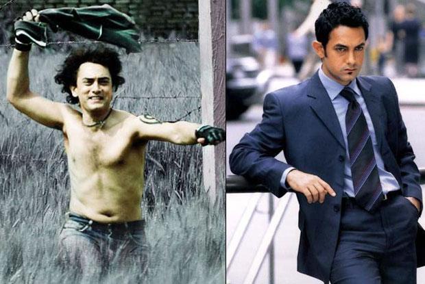 Aamir Khan in a still from Rang De Basanti and Dil Chahta Hai Movie