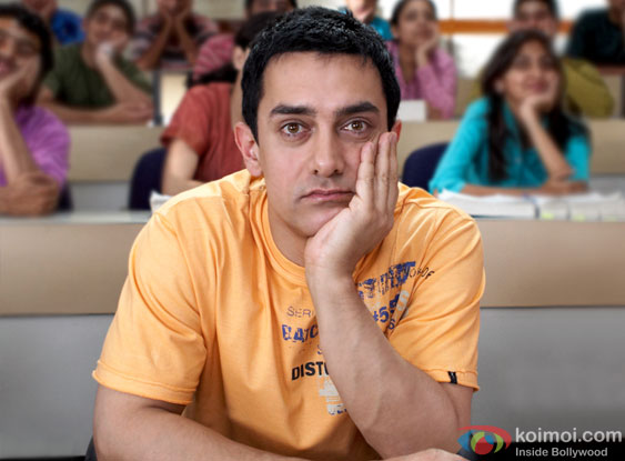 Aamir Khan in a still from 3 Idiots Movie