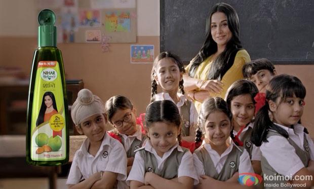 Vidya Balan in Nihar Naturals Ad Making