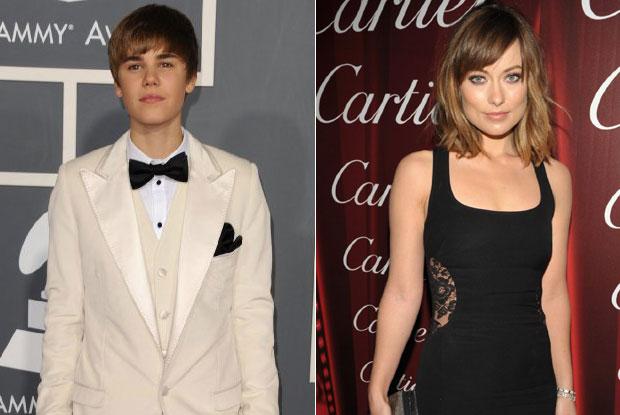 Justin Bieber and Olivia Wilde