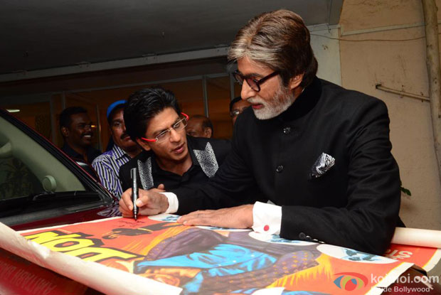 When SRK asked Big B to sign Don's original poster for him!