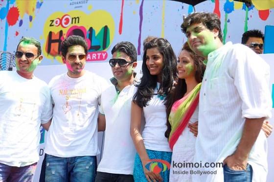 Ayushmann Khurrana, Bhushan Kumar, Gaelyn Mendonca, Pooja Salvi And Kunaal Roy Kapur