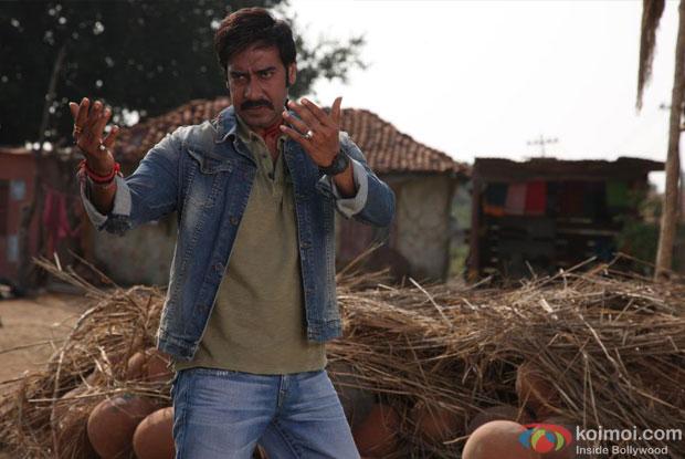Ajay Devgn in a still from Himmatwala Movie