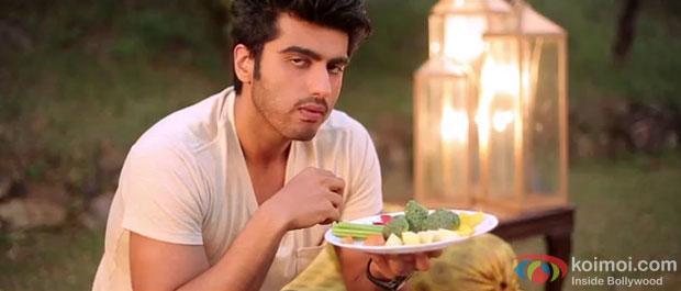 Arjun Kapoor in a still from Gippi Movie