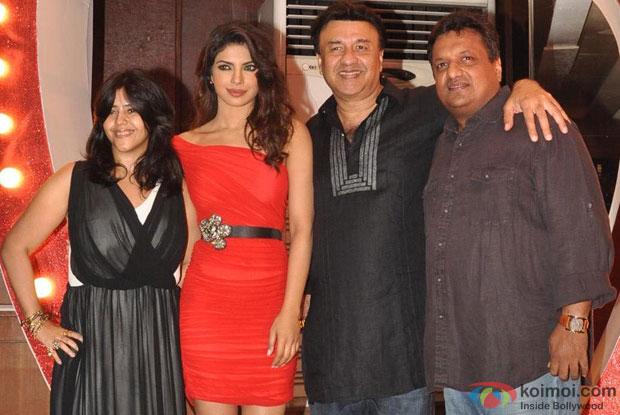 Ekta Kapoor, Priyanka Chopra, Anu Malik and Sanjay Gupta