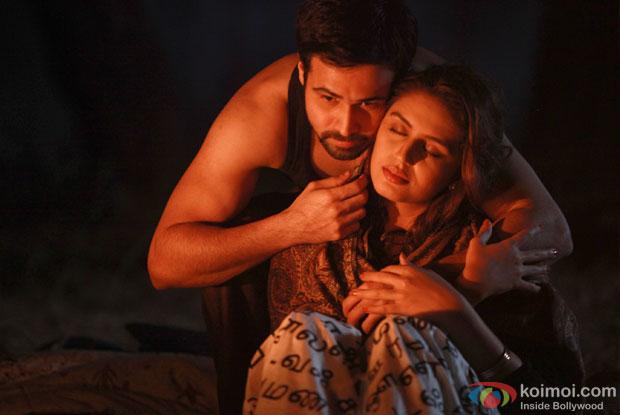 Emraan Hashmi and Huma Qureshi in a still from Ek Thi Daayan Movie